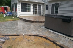 Paver Patios and Hot tubs installed in New Hampshire. Certified Paver installers, Natures Elite Landscaping