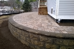 Raised Permeable Paver Patio, Belgard Permeable Pavers Gilford, NH